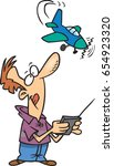 cartoon man with a radio... | Shutterstock .eps vector #654923320