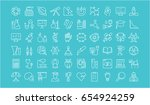 set vector line icons  sign and ... | Shutterstock .eps vector #654924259