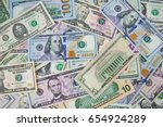 money american hundred dollar... | Shutterstock . vector #654924289
