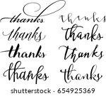 set of custom thanks  hand...   Shutterstock .eps vector #654925369