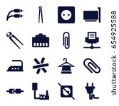 wire icons set. set of 16 wire... | Shutterstock .eps vector #654925588
