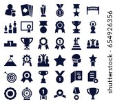 winner icons set. set of 36... | Shutterstock .eps vector #654926356