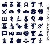 competition icons set. set of... | Shutterstock .eps vector #654926383
