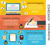blogging write banner... | Shutterstock .eps vector #654928423