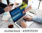 app development concept | Shutterstock . vector #654929254