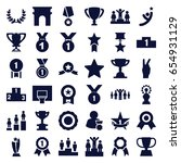 victory icons set. set of 36... | Shutterstock .eps vector #654931129