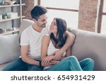 together forever. a couple of... | Shutterstock . vector #654931429