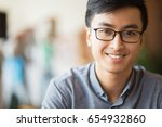 closeup portrait of smiling... | Shutterstock . vector #654932860