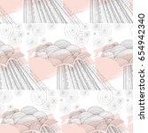 rain pattern with brush... | Shutterstock . vector #654942340