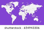 world map vector. | Shutterstock .eps vector #654943306