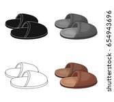 slippers.old age single icon in ...   Shutterstock .eps vector #654943696
