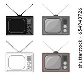 old tv.old age single icon in... | Shutterstock .eps vector #654943726