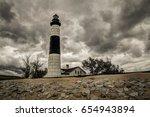 storm on the horizon. dark... | Shutterstock . vector #654943894