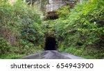 the haunted nada tunnel in... | Shutterstock . vector #654943900