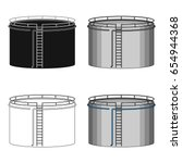 oil storage tank.oil single... | Shutterstock .eps vector #654944368