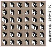 vector a z alphabet gray text... | Shutterstock .eps vector #654945490