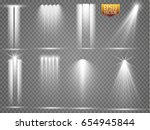 vector light sources  concert... | Shutterstock .eps vector #654945844