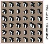 vector a z alphabet gray text... | Shutterstock .eps vector #654947068