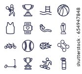 sport icons set. set of 16... | Shutterstock .eps vector #654947848