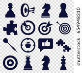 strategy icons set. set of 16... | Shutterstock .eps vector #654948310