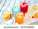 tray of cool colorful summer...