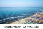 aerial view of the the beach of ...   Shutterstock . vector #654953830