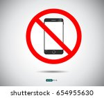 no cell phone  mobile phone... | Shutterstock .eps vector #654955630