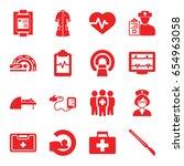 patient icons set. set of 16... | Shutterstock .eps vector #654963058