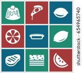 slice icons set. set of 9 slice ... | Shutterstock .eps vector #654965740