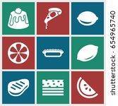 slice icons set. set of 9 slice ... | Shutterstock .eps vector #654965740