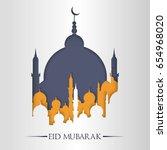 eid mubarak or eid al fitr... | Shutterstock .eps vector #654968020