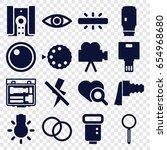 lens icons set. set of 16 lens... | Shutterstock .eps vector #654968680