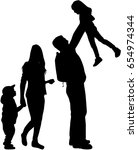 family silhouette | Shutterstock .eps vector #654974344
