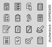 checklist icons set. set of 16... | Shutterstock .eps vector #654982600