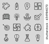 solution icons set. set of 16... | Shutterstock .eps vector #654984070