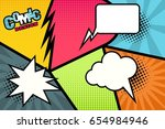 comic book page. vector template | Shutterstock .eps vector #654984946