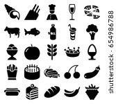 Food Icons Set. Set Of 25 Food...