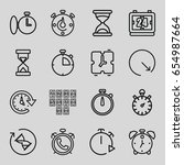 countdown icons set. set of 16...   Shutterstock .eps vector #654987664