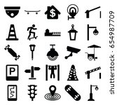 street icons set. set of 25...   Shutterstock .eps vector #654987709