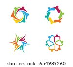 community  network and social... | Shutterstock .eps vector #654989260