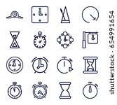 timer icons set. set of 16... | Shutterstock .eps vector #654991654