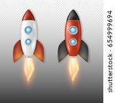 realistic vector retro space...   Shutterstock .eps vector #654999694