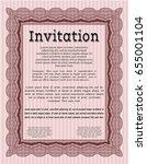 red retro invitation. perfect... | Shutterstock .eps vector #655001104