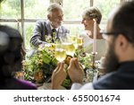 group of diverse people... | Shutterstock . vector #655001674