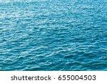 blue sea water surface... | Shutterstock . vector #655004503
