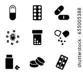 capsule icons set. set of 9... | Shutterstock .eps vector #655005388