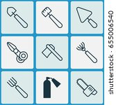apparatus icons set. collection ... | Shutterstock .eps vector #655006540
