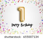 1st birthday celebration with... | Shutterstock . vector #655007134