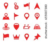location icons set. set of 16... | Shutterstock .eps vector #655007380