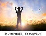 fatherhood vision concept ... | Shutterstock . vector #655009804